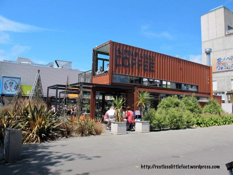 Salah satu cafe di Re: Start Mall, Christchurch